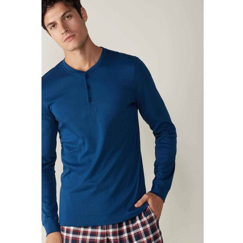 T-Shirt à manches longues interlock supima - INTIMISSIMI - Modalova