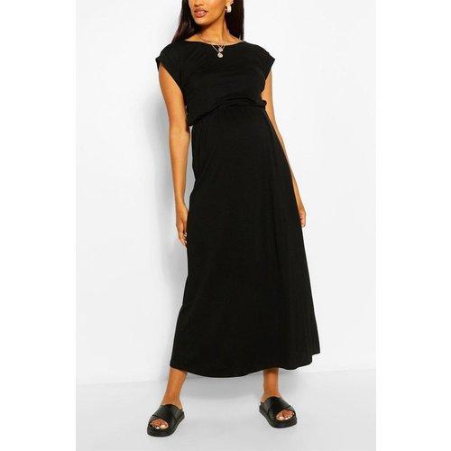 Robe de grossesse col rond manches courtes - BOOHOO - Modalova