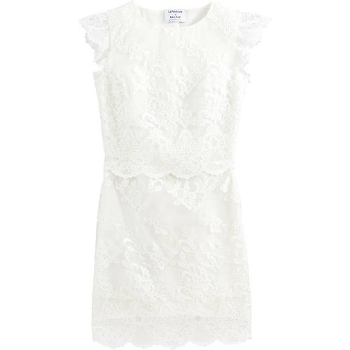 Robe de mariée courte sans manches en guipûre - BALZAC PARIS X LA REDOUTE COLLECTIONS - Modalova