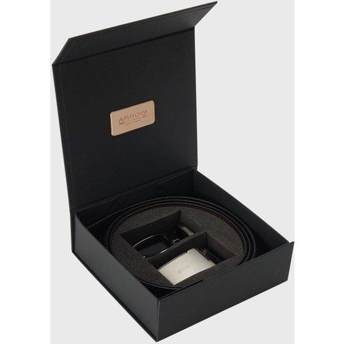 Coffret ceinture cuir réversible boucle plaque - Arrow - Modalova