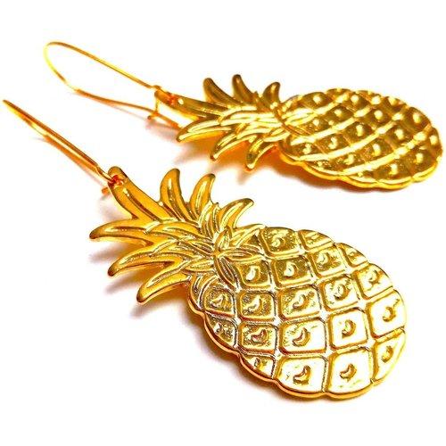 Boucles d'oreilles ananas laiton - JUL&FIL - Modalova