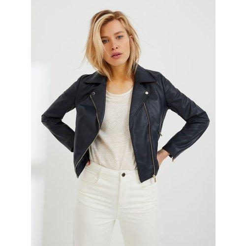 Blouson cuir style perfecto - CYRILLUS - Modalova