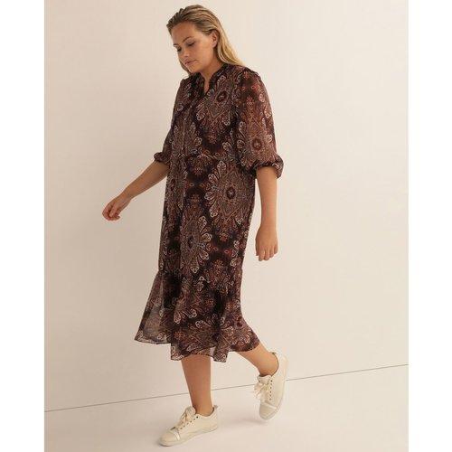 Robe avec broderie et motif ajouré - COUCHEL - Modalova