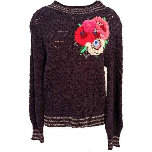 Pull manches longues et fleurs brodées - Bangkok - DERHY - Modalova