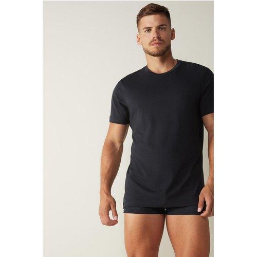 T-Shirt à manches courtes et col rond en coton supima® - INTIMISSIMI - Modalova