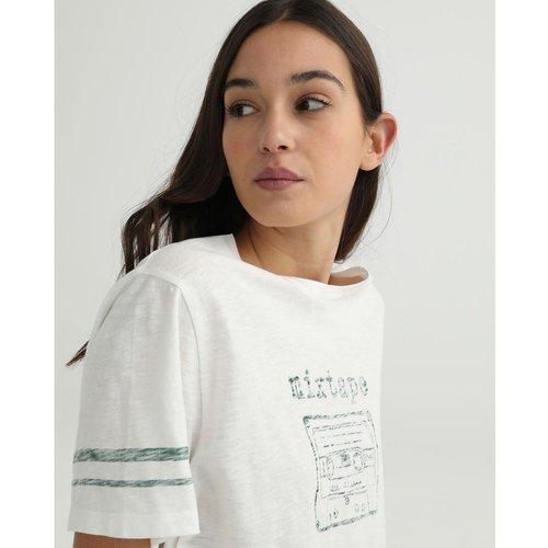 Tshirt à manches courtes et motif sur le devant - GREEN COAST - Modalova