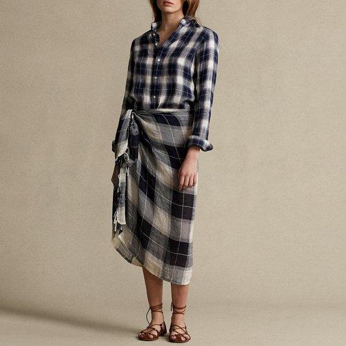 Chemise en lin imprimé à carreaux, manches longues - Polo Ralph Lauren - Modalova