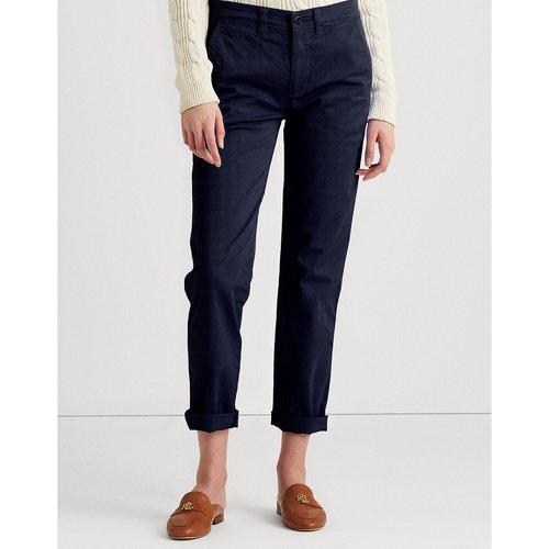 Pantalon slim, cigarette coton stretch - Lauren Ralph Lauren - Modalova