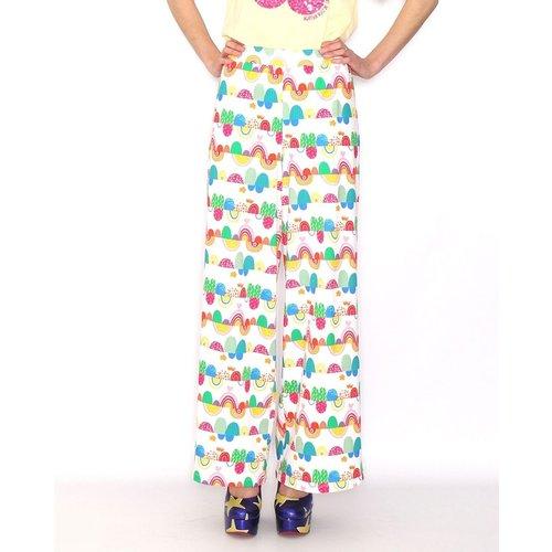 Pantalon droit imprimé - AGATHA RUIZ DE LA PRADA - Modalova