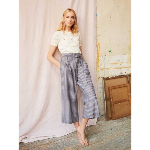 Pantalon large à rayures - Modèle Jacquard - DERHY - Modalova