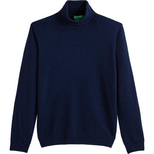Pull col roulé en laine vierge - Benetton - Modalova