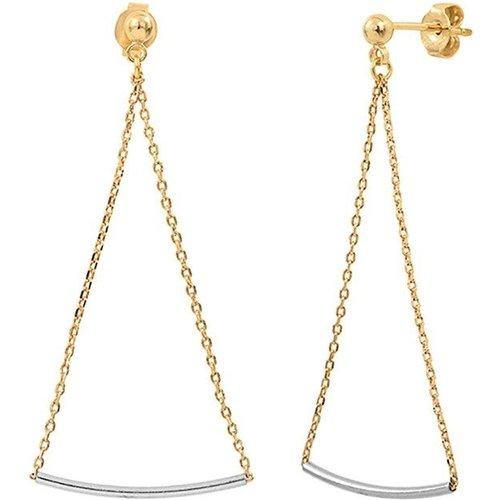Boucles d'oreilles triangles dorées à l' et argent 925 FINELINE - CAROLINE NAJMAN - Modalova