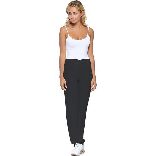 Pantalon coupe fluide taille élastique avec fronces en maille modal SALLY - RENDEZ-VOUS PARIS - Modalova