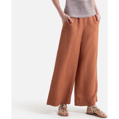 Pantalon large en lin mélangé - Anne weyburn - Modalova