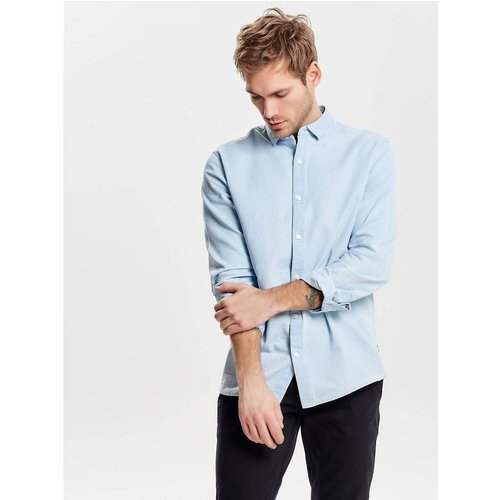 Chemise à manches longues Slim fit - Only & Sons - Modalova