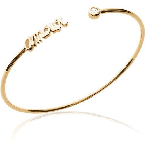 Bracelet jonc en argent ou plaqué or AMOUR - LORENZO R - Modalova