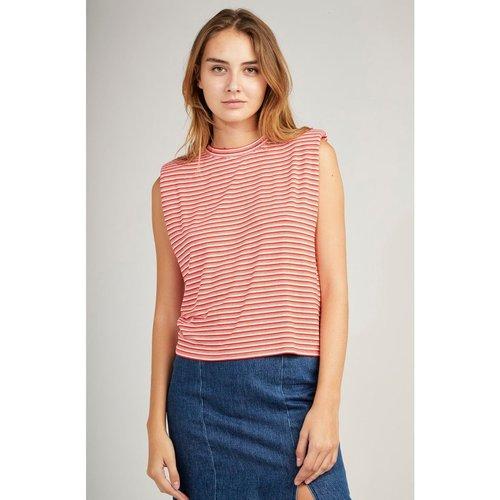 Tee shirt sans manches à épaulettes - Naf Naf - Modalova