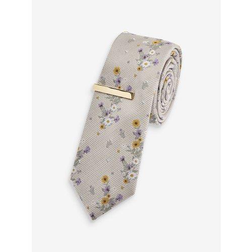 Cravate avec pince à cravate coupe slim - Next - Modalova