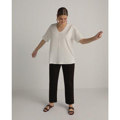 Pantalon droit confectionné en point de Rome - COUCHEL - Modalova
