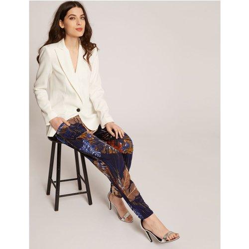 Pantalon droit imprimé végétal - Morgan - Modalova