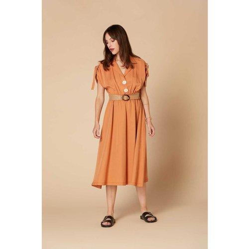 Robe unie midi col chemise - Absolu robe - DERHY - Modalova