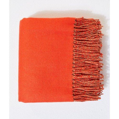 Echarpe plaid bicolore à franges ROUSSE - ETAM - Modalova