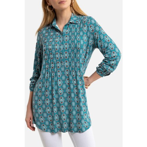 Tunique imprimée col chemise, manches longues - Anne weyburn - Modalova