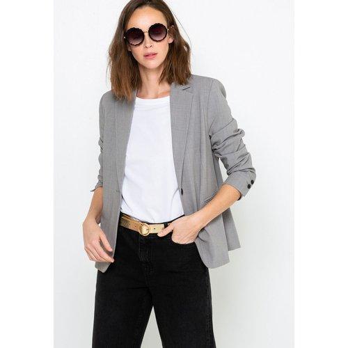 Veste blazer gris chiné - CAMAIEU - Modalova