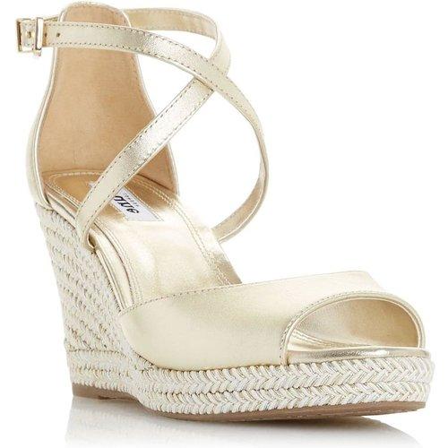 Sandales compensées style espadrilles à brides croisées - KIMCHI - DUNE LONDON - Modalova