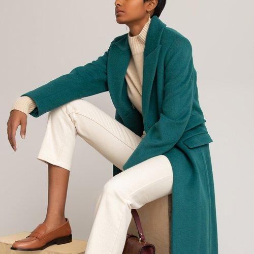 Manteau pardessus en drap de laine - LA REDOUTE COLLECTIONS - Modalova