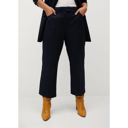 Pantalon flare crop - Violeta by Mango - Modalova