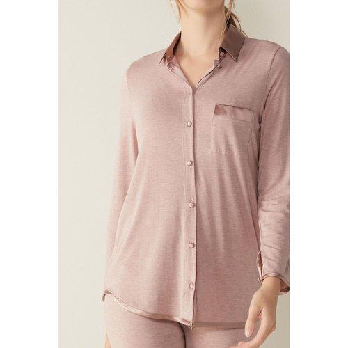 Haut de pyjama manches longues en modal et soie - INTIMISSIMI - Modalova