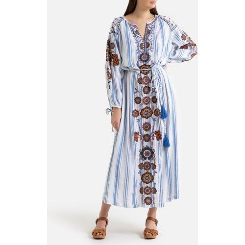 Robe longue imprimée à broderies CAMILLA - Antik batik - Modalova