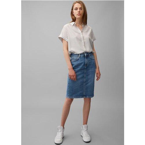 Jupe en jean en tissu de coton biologique à teneur en stretch - Marc O'Polo - Modalova