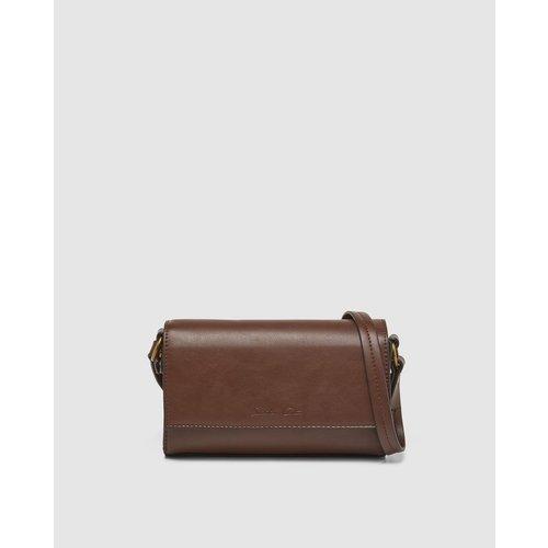 Petit sac à bandoulière foncé avec logo de la marque gravé - SOUTHERN COTTON - Modalova