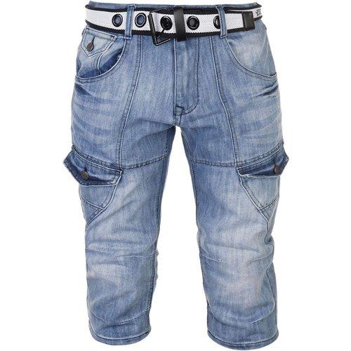 Short cargo en jean denim - No Fear - Modalova
