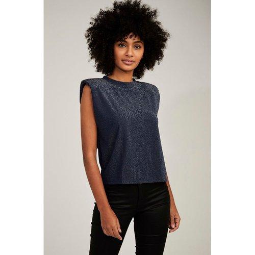 T-shirt brillant à épaulettes - Naf Naf - Modalova