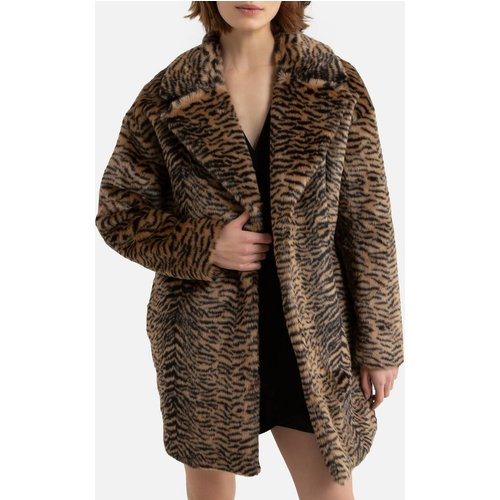 Manteau mi-long imprimé motif léopard - IKKS - Modalova