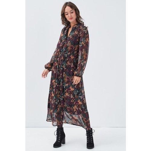 Robe longue évasée smockée - CACHE CACHE - Modalova
