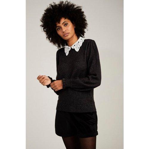 Pull col chemise brodé - Naf Naf - Modalova
