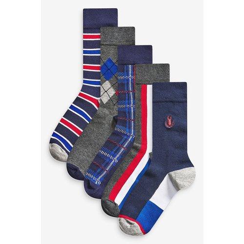 Lots de cinq paires chaussettes à motifs - Next - Modalova