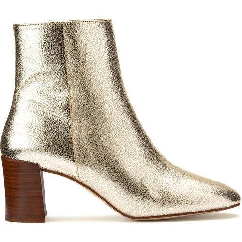 Boots en cuir talon large CLAUDETTE - PETITE MENDIGOTE - Modalova