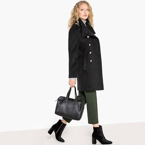 Manteau long mélange laine, style militaire - LA REDOUTE COLLECTIONS - Modalova