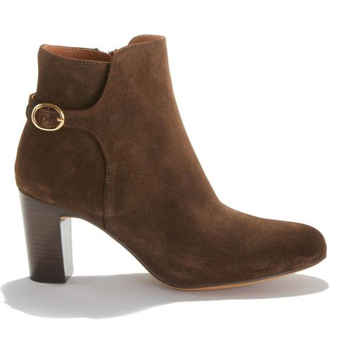 Boots à talon croûte de cuir vachette GEDEON - ANTHOLOGY PARIS - Modalova