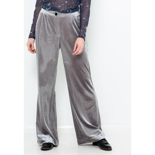 Pantalon large velours - CAMAIEU - Modalova