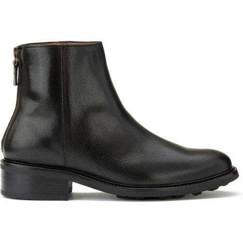 Boots zippées en cuir à petit talon - ANTHOLOGY PARIS - Modalova