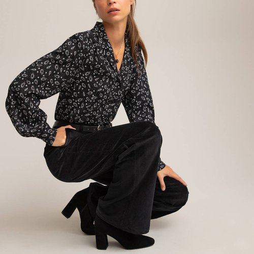 Pantalon flare en velours, taille haute - LA REDOUTE COLLECTIONS - Modalova
