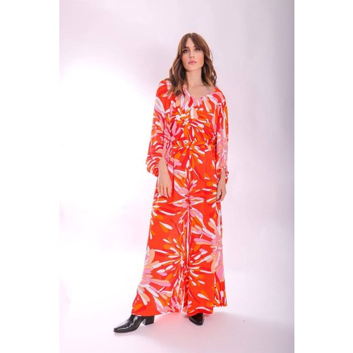 Pantalon palazzo jambes large imprimé floral MARGOT - traffic people - Modalova