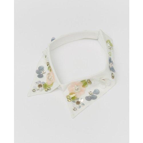Écharpe tube fleurs paillettes - SFERA - Modalova