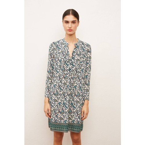 Robe-chemise courte en soie imprimée SHAILY - Gerard Darel - Modalova